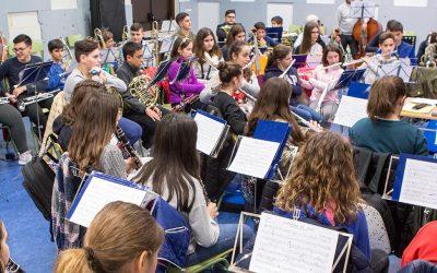 LA BANDA JOVEN de la UNIÓN MUSICAL en el CAES de TORRE PACHECO