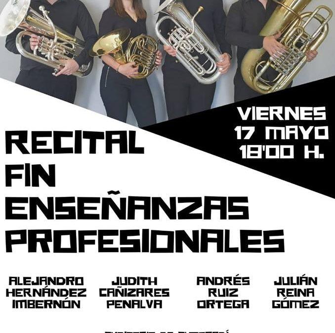 Judith Cañizares, Andrés Ruiz, Julián Reina y María Quiles, recitales Fín de Grado Pofesional