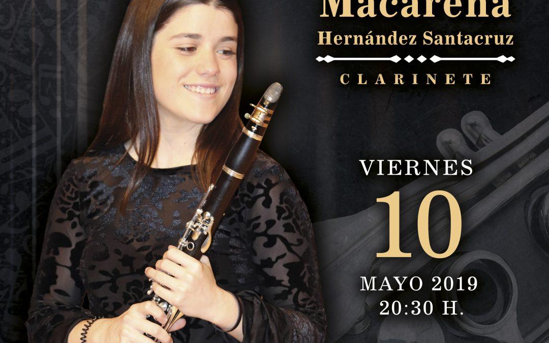 Macarena Hernández, recital Fín de Estudios Superiores