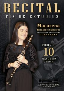 Macarena Hernández, recital Fín de Estudios Superiores @ Auditorio de la Escuela de Música | Almoradí | Comunidad Valenciana | España